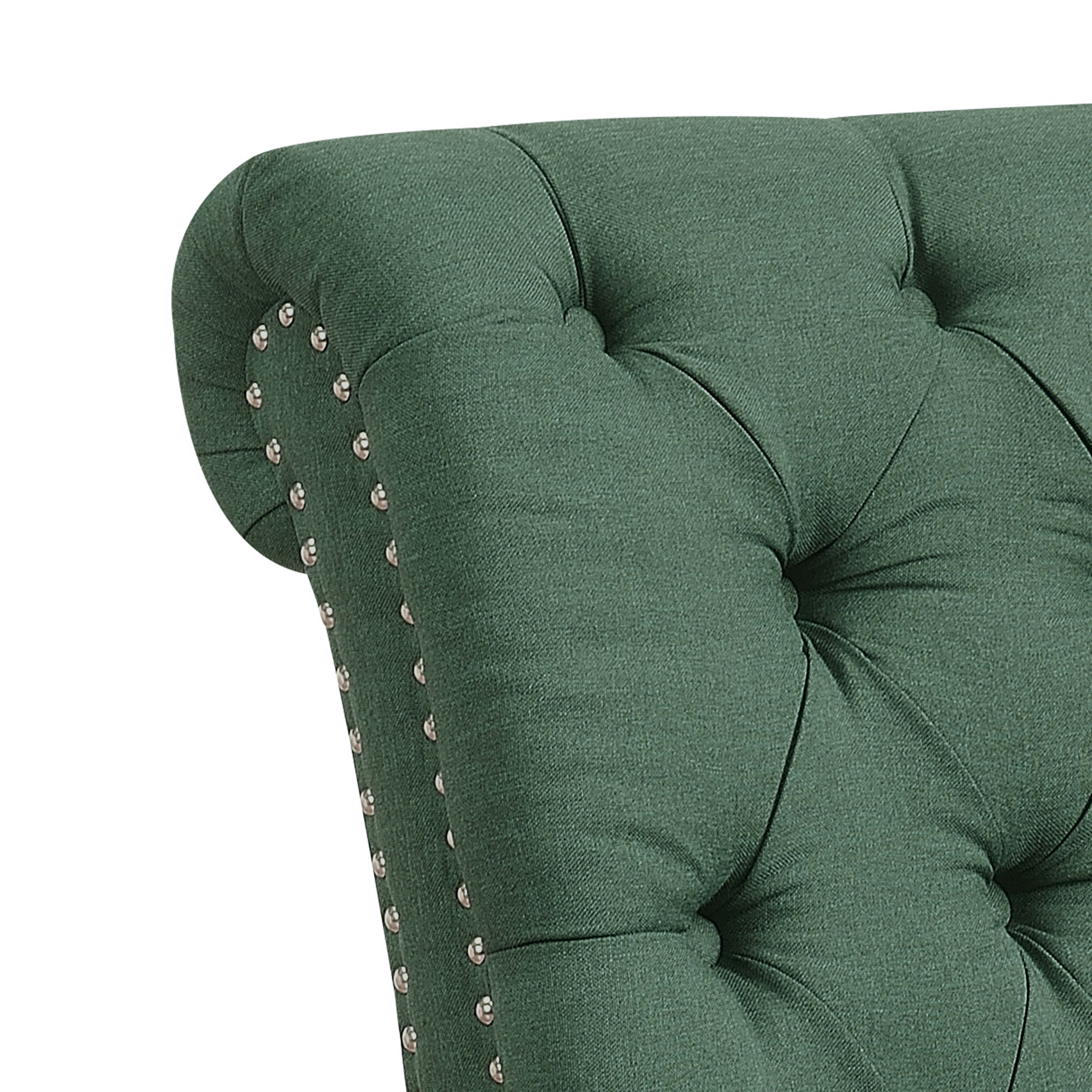 Polyester Button Tufted Chesterfield Armless Chaise Lounge