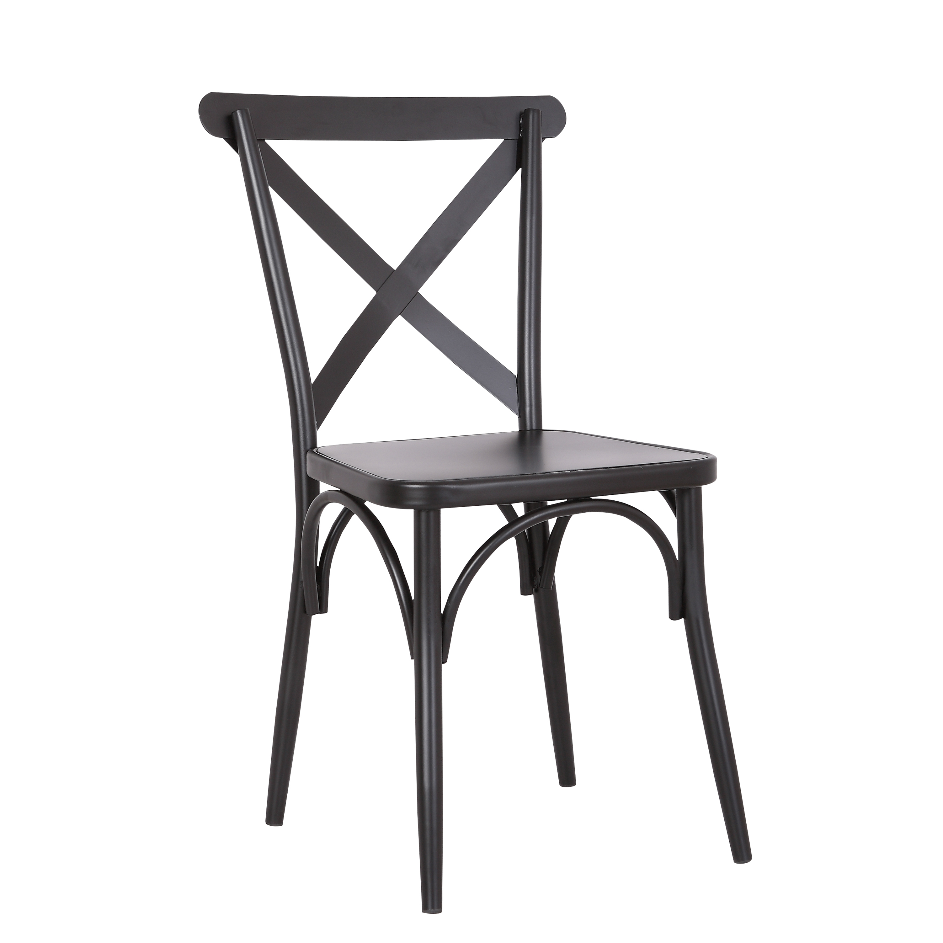 Picture of: Rustic Cross Back Metal Modern Farmhouse Dining Chair Set Of 2 Christies Home Living