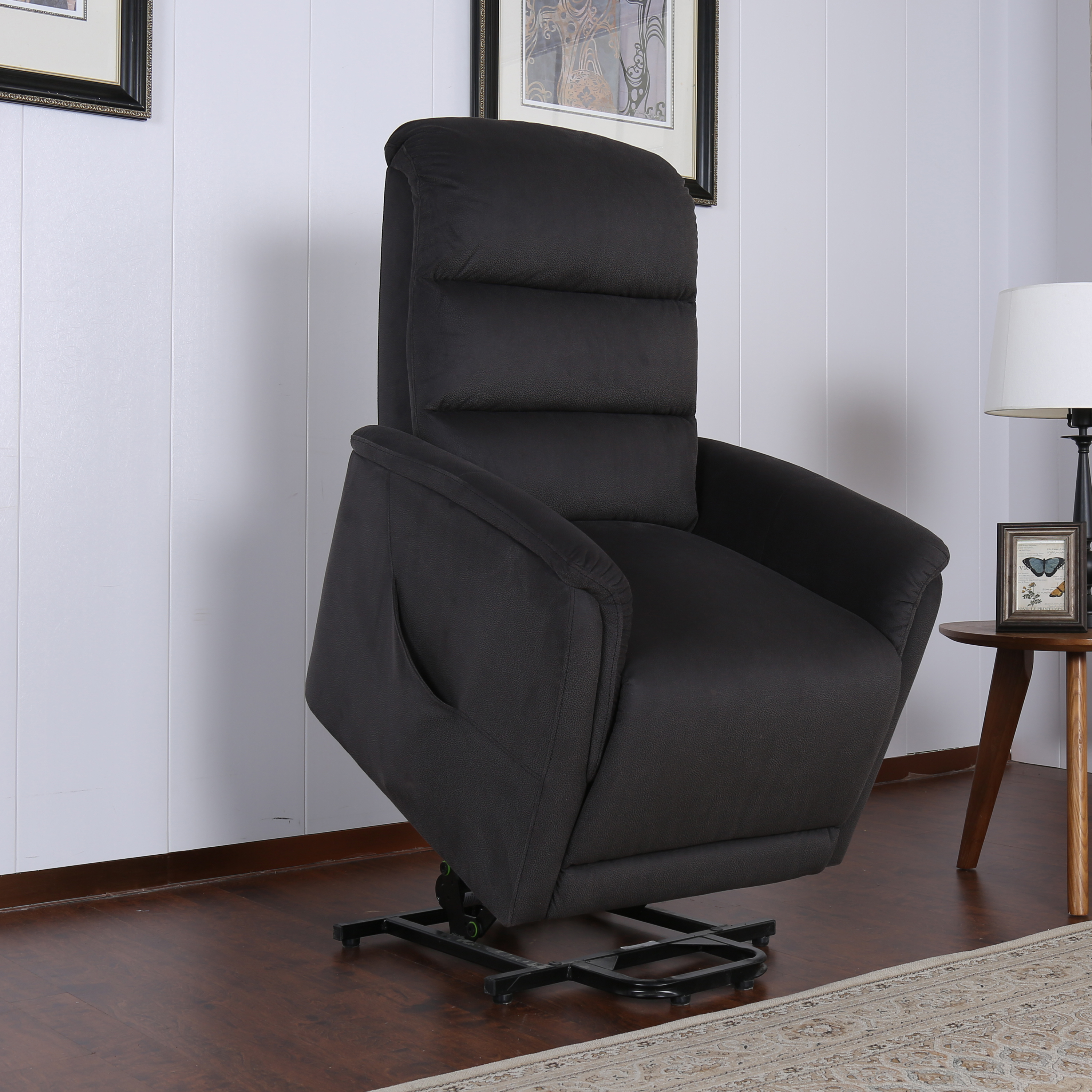 Miles Contemporary Fabric Power Recliner Lift Chair Gray