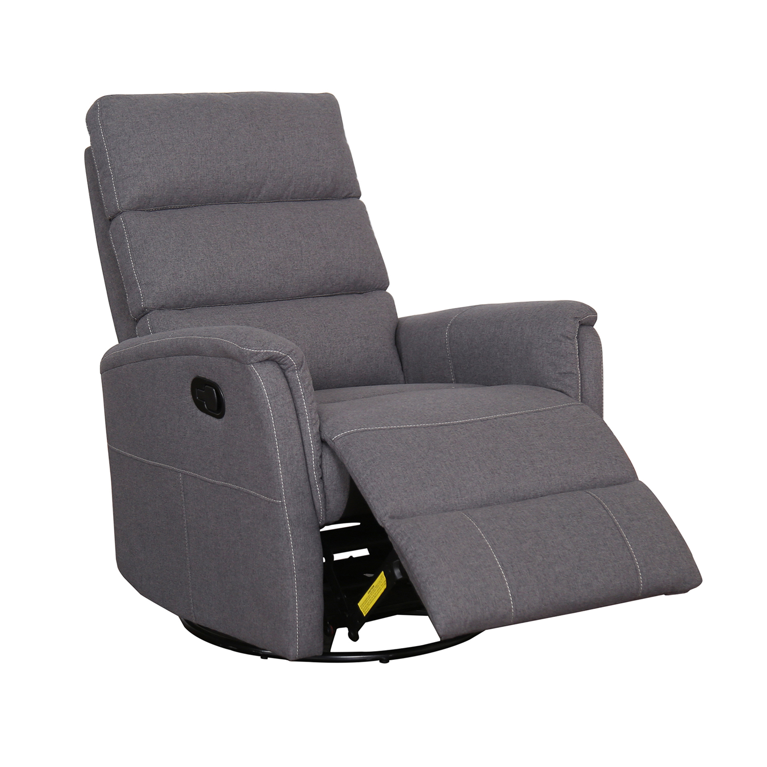 Tyler Contemporary Fabric Swivel Gliding Recliner Christies Home Living