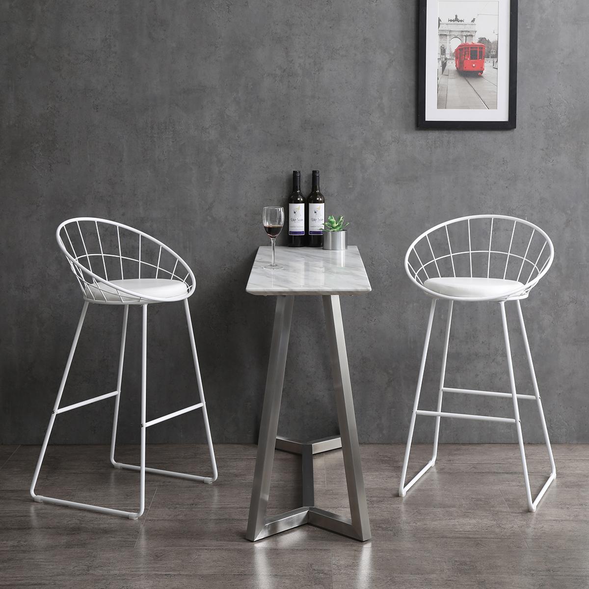Nordic Bar Stool Bar Chair Wrought Iron Stool Modern Minimalist Barstool Set Of 2 Christies Home Living